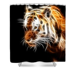 Tiger  Shower Curtain by Mark Ashkenazi