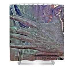 Shower Curtain featuring the photograph Tin Man Hand by Lilliana Mendez