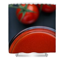 Tomato Juice Shower Curtain