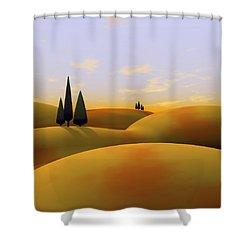 Toscana 3 Shower Curtain by Cynthia Decker