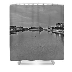 2 Towns Shower Curtain