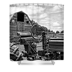 Tractor Barn Shower Curtain