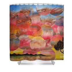 Tranquility With Tree Shower Curtain