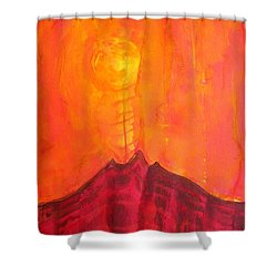 Tres Orejas Original Painting Shower Curtain by Sol Luckman