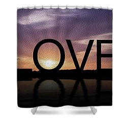 Tropical Sunset Shower Curtain by Aged Pixel