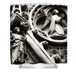 Shower Curtain featuring the photograph Truro Cathedral by Rachel Mirror