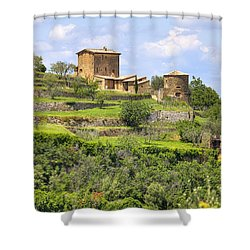 Tuscany - Montalcino Shower Curtain by Joana Kruse