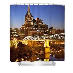Twilight Over Nashville Tennessee Shower Curtain by Brian Jannsen