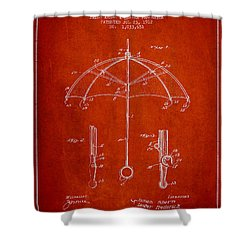 Umbrella Patent Drawing From 1912 Shower Curtain by Aged Pixel