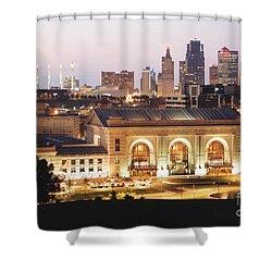 Union Station Evening Shower Curtain