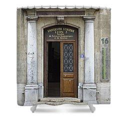 Universite Lumiere Shower Curtain by Allen Sheffield