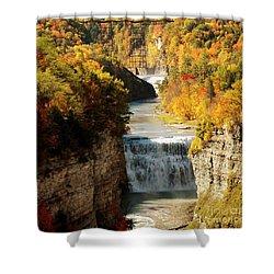 Upper Falls Shower Curtain by Kathleen Struckle