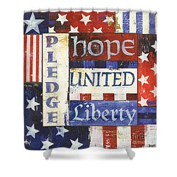 Usa Pride 1 Shower Curtain by Debbie DeWitt