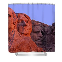 Usa, South Dakota, Mount Rushmore Shower Curtain by Panoramic Images