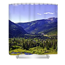 Vail Valley View Shower Curtain
