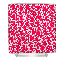 Valentines Day Card Shower Curtain by Louisa Knight