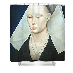 Shower Curtain featuring the photograph Van Der Weyden's Portrait Of A Lady by Cora Wandel