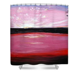Shower Curtain featuring the painting Vanquished by Meaghan Troup