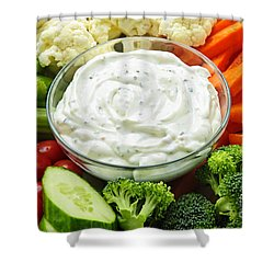 Vegetables And Dip Shower Curtain