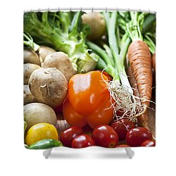 Vegetables Shower Curtain by Elena Elisseeva