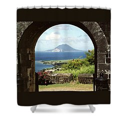 View From Brimstone Hill Fortress Shower Curtain by Ellen Henneke