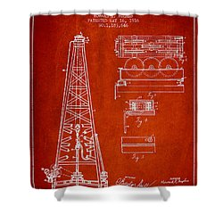 Vintage Oil Drilling Rig Patent From 1916 Shower Curtain