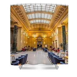 Walter Library Shower Curtain by Le Phuoc