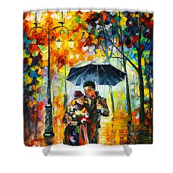 Warm Night Shower Curtain by Leonid Afremov