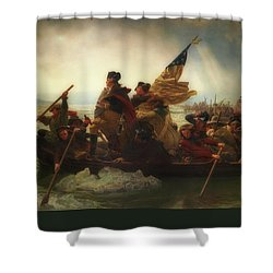 Washington Crossing The Delaware  Shower Curtain