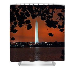 Shower Curtain featuring the photograph Washington Monument by Suzanne Stout