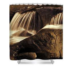 Water Flow Shower Curtain by Les Cunliffe