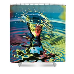 Water Splash Having A Bad Hair Day Shower Curtain