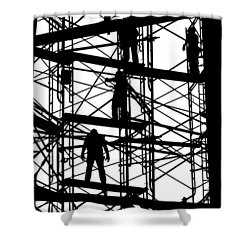 Water Tower Silhouette  Shower Curtain by Allen Beatty