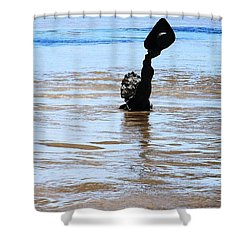 Waters Up Shower Curtain by Kelly Awad
