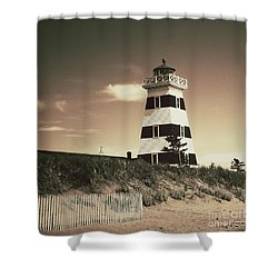 West Point's Light Shower Curtain by Meg Lee Photography