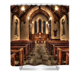 Westminster Presbyterian Church Shower Curtain by Amanda Stadther