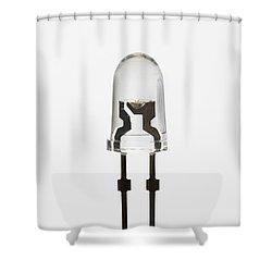 White Led Shower Curtain