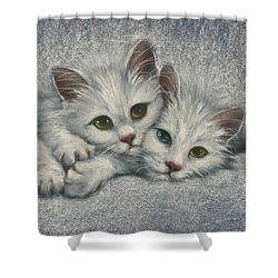 Shower Curtain featuring the painting White On White by Cynthia House