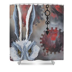 White Rabbit Shower Curtain