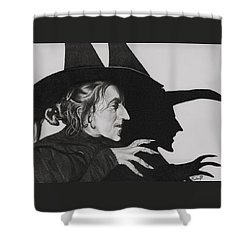 Wicked Witch Of The West Shower Curtain by Fred Larucci