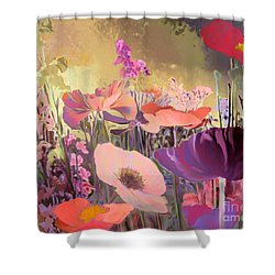 Wild Garden Shower Curtain by Ursula Freer