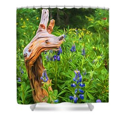 Wildflowers Shower Curtain by Sharon Seaward