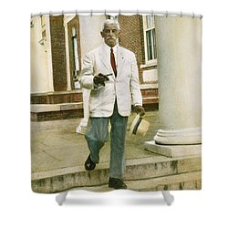 Shower Curtain featuring the photograph William Faulkner (1897-1962) by Granger
