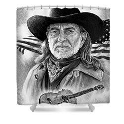 Willie Nelson American Legend Shower Curtain