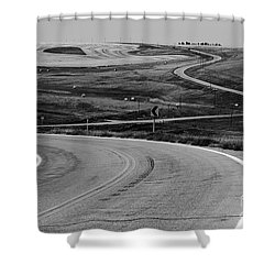 Winding Road Shower Curtain by Sue Smith