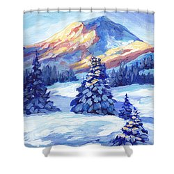 Winter Sunset  Shower Curtain by Peggy Wilson