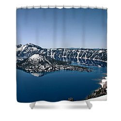 Wizard Island  Shower Curtain by Betty Depee