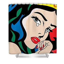 Wonder Woman Shower Curtain by Mark Ashkenazi