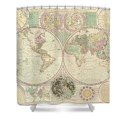 World Map Shower Curtain by Gary Grayson