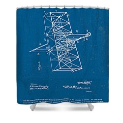 Wright Brothers Flying Machine Patent Shower Curtain